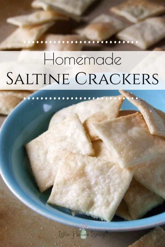 Have you ever wanted to make homemade crackers? Homemade Saltine Crackers are a great way to get started! This simple recipe only takes 4 ingredients. #homemadecrackers #glutenfreecrackers #homemadesaltinecrackers #makeyourown #crackerrecipe