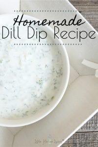 Homemade Dill Dip Recipe