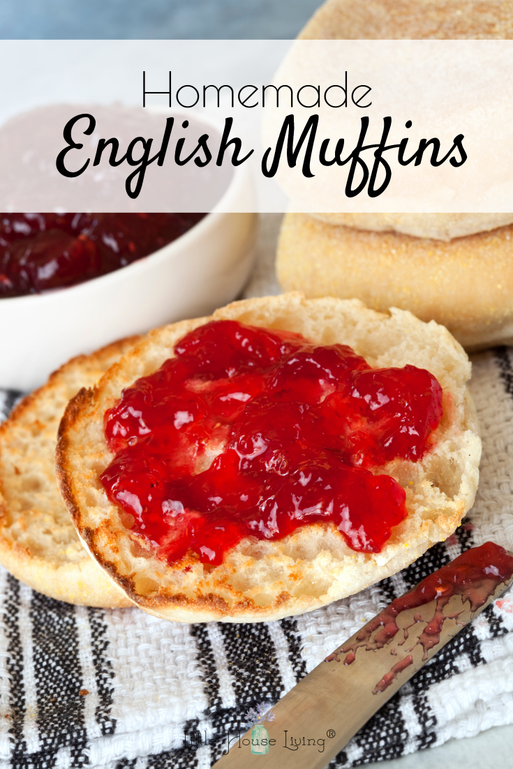 These are the BEST English Muffins that you can make! Simple recipe and they taste so good. Perfect for topping with jam or making into sandwiches or mini pizzas. #bestenglishmuffins #homemadeenglishmuffins #englishmuffins