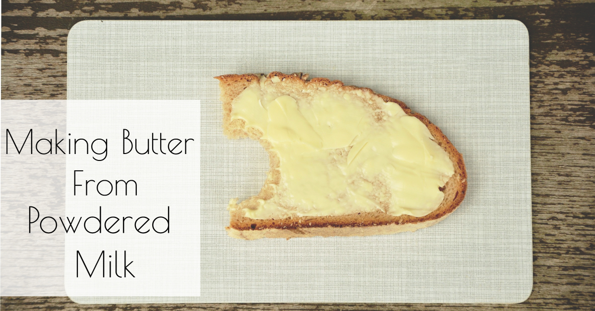 How to Make Butter from Powdered Milk - Little House Living