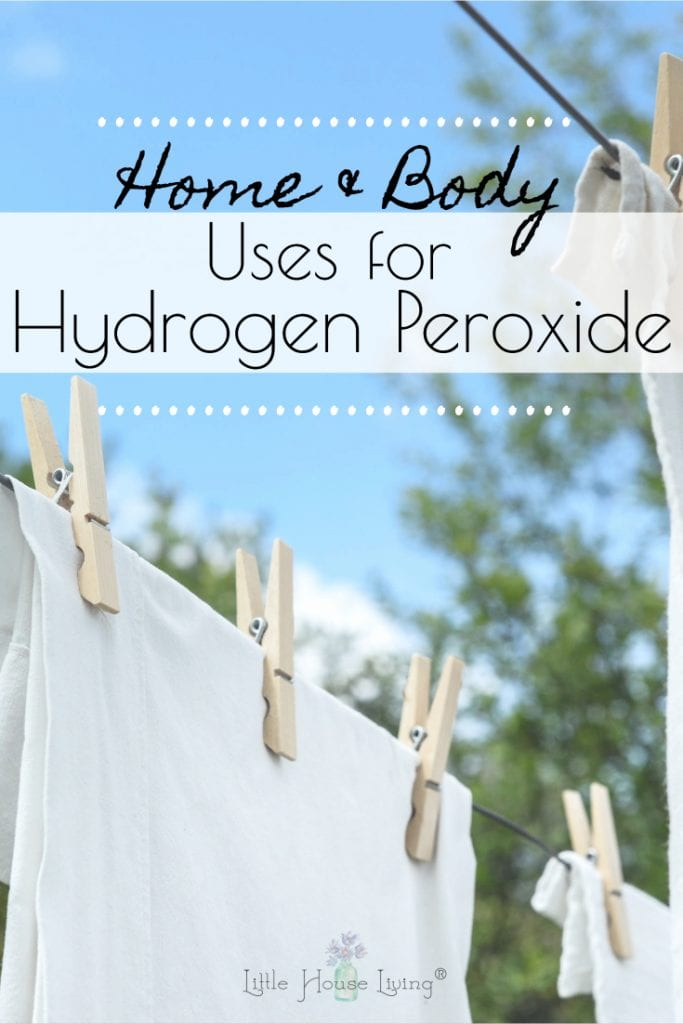 Hydrogen peroxide is a common household product with so many uses. Here are 20 hydrogen peroxide uses for home and body that you might never have heard of! #hydrgogenperoxide #hydrogenperoxideuses