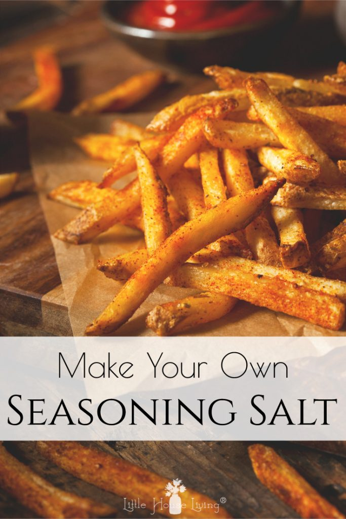 Want to make your own Seasoning Salt for a delicious topping for your meats, fries, or other homemade meals? With this incredibly easy recipe, you will never buy it again!