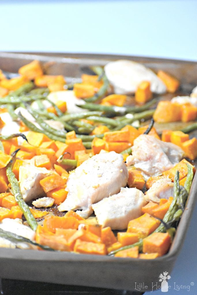 Green Bean, Chicken and Potato Sheet Pan Meal