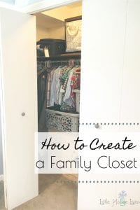 Need to simplify your laundry situation? Learn how creating a family closet can be the perfect solution to save you time and sanity! #familycloset #laundrysystem #laundyinminutes #easylaundry
