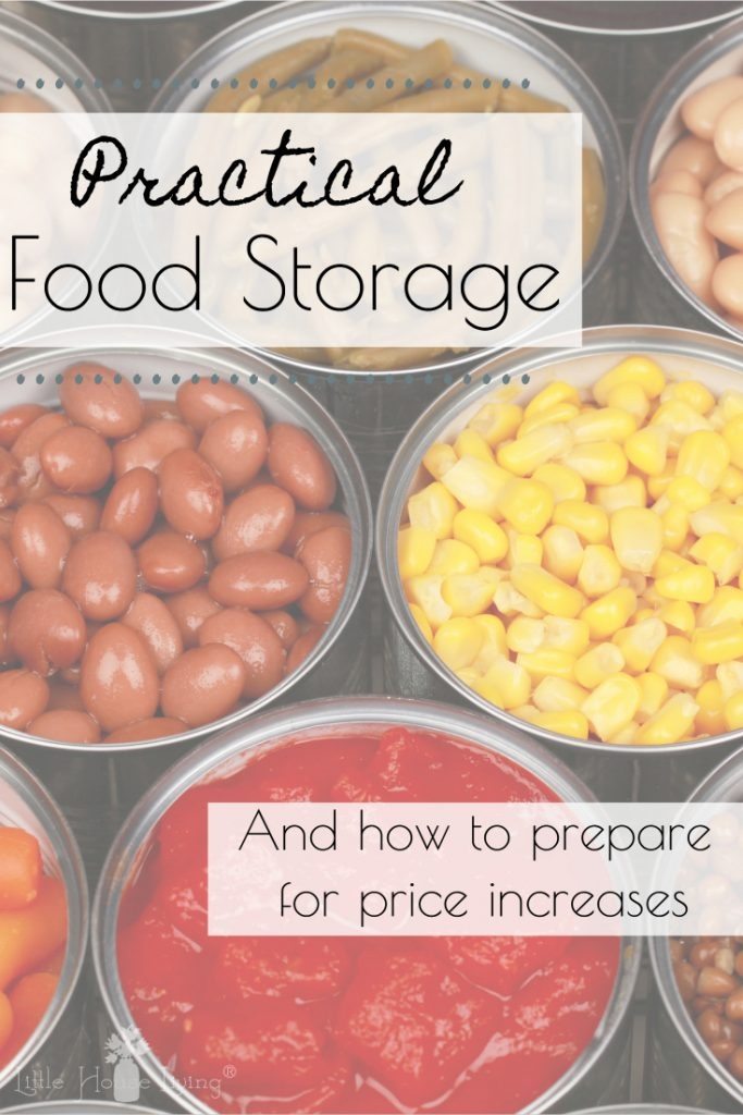 Are you concerned about rising food prices and aren't sure how to prepare? Here's a guide to Practical Food Storage to prepare for price increases! #foodstorage #prepping #bepreparednotscared