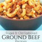 Need to find some simple and frugal ground beef recipes that will help stretch your grocery budget? Here are some easy recipes that we use! #frugalgroundbeefrecipes #groundbeefrecipes #frugalrecipes