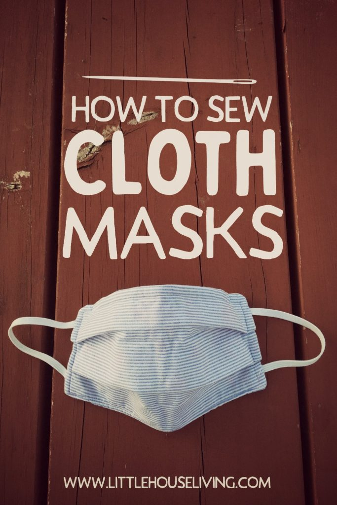 Are you looking for an easy and frugal way to make masks? Learn how to sew your own cloth masks with this simple tutorial. #diy #clothmasks #sewingproject #preparedness #pandemic