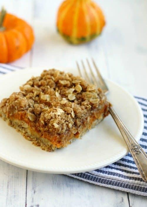 eggless pumpkin crumble