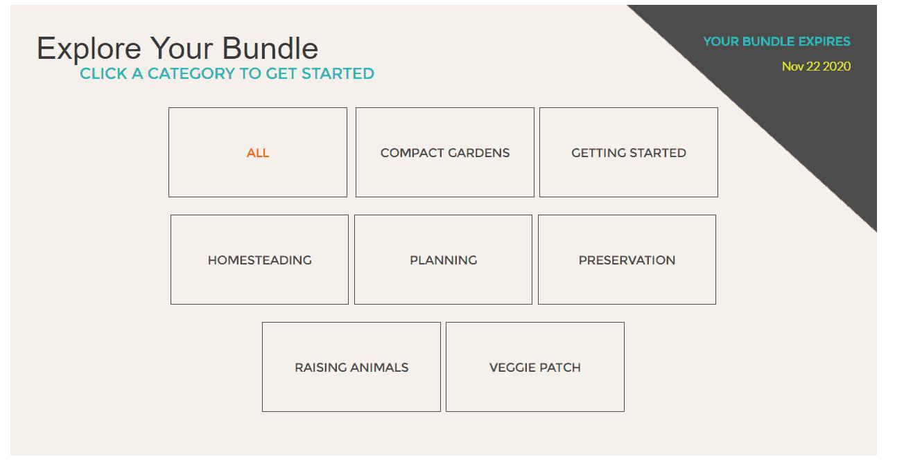 Gardening Bundle Categories