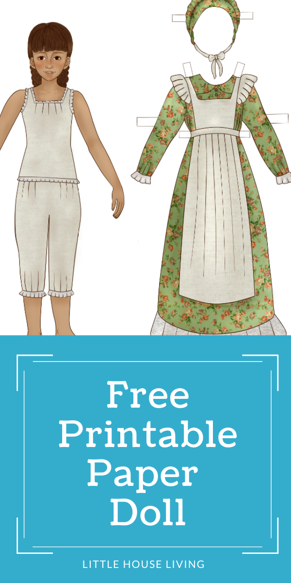 "Looking for a sweet little old fashioned paper doll for your little ones to play with? This little ""prairie girl"" paper doll with be perfect to add to their collection!"