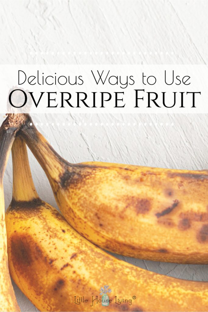 Do you have some fruit sitting on your countertop that is in less than perfect condition? Here are some suggestions on how to make the most of that overripe fruit!
