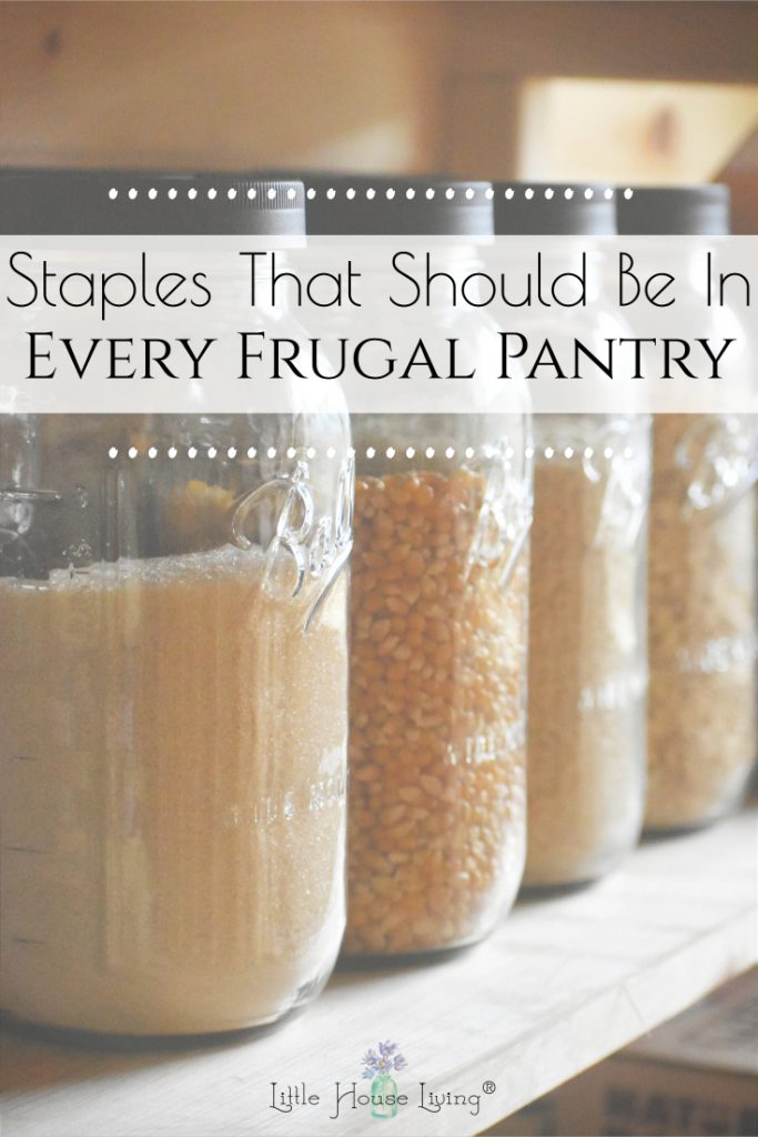 Are you unsure of what you should be stocking in your pantry? Today I'm sharing the basics of every good frugal pantry!