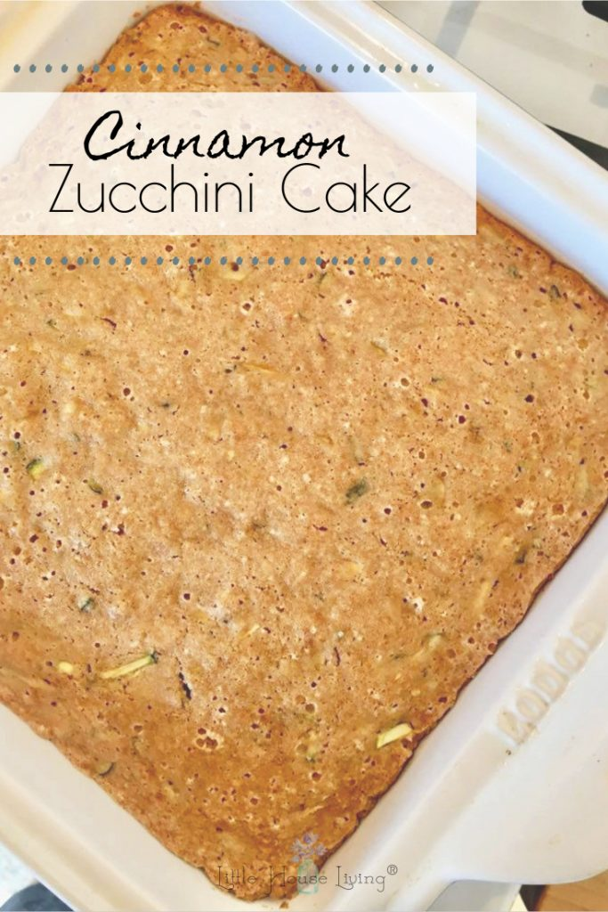 Need another yummy zucchini recipe to make this summer? This Cinnamon Zucchini Cake is so easy!