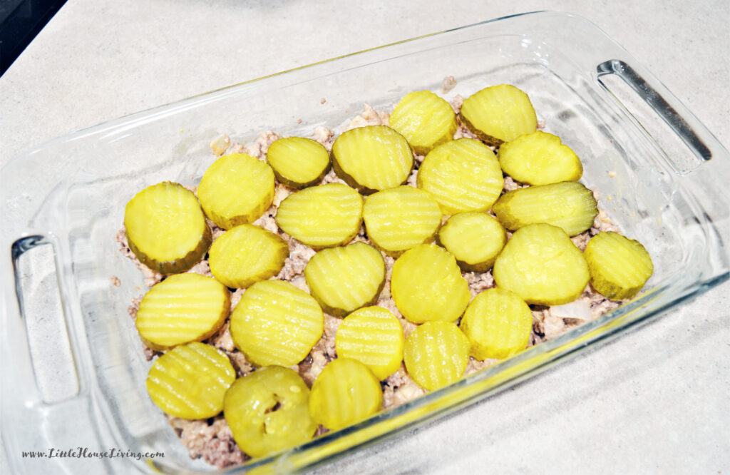 Adding Pickles to Casserole