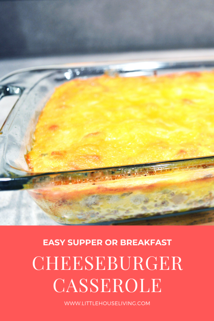 Looking for a delicious new casserole for your family to try? This Simple Cheeseburger Casserole makes the perfect supper or breakfast!