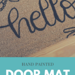 Looking for a custom door mat to grace your front door? Here's how to make your own DIY Door Mat!