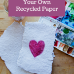 Are you looking for a unique craft that you can do with materials you already have on hand? This DIY Homemade Paper Tutorial is perfect!