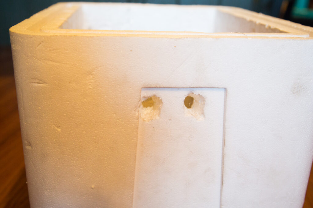 Two Holes in Cooler