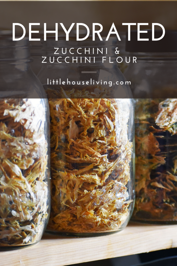 Need to use up all of those huge garden zucchini? Here's how we make our dehydrated zucchini, zucchini flour, and how I store it for the winter.