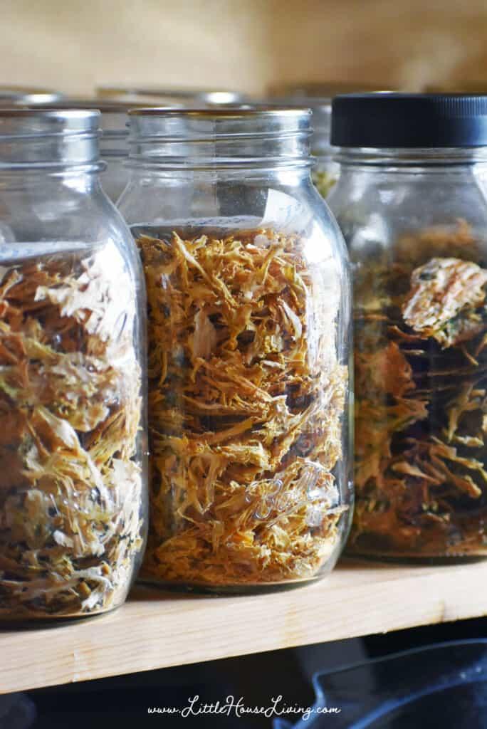 Dehydrated Zucchini in Jars