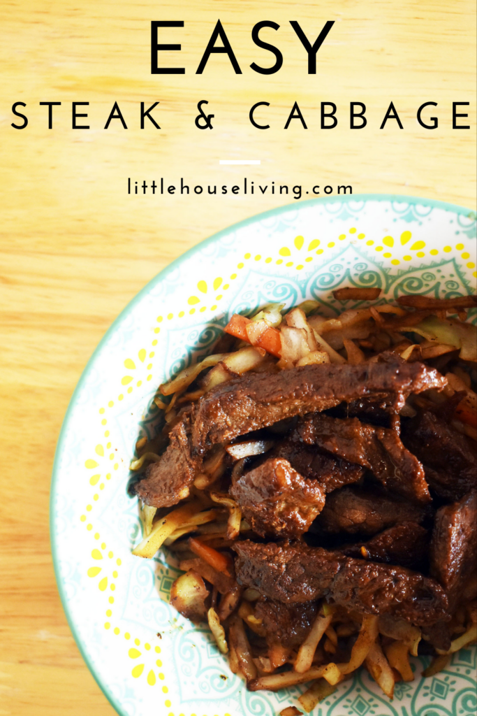 Looking for a quick supper that you can make this week? We love this steak and cabbage recipe! It's so easy and everyone enjoys it when I serve it for supper.