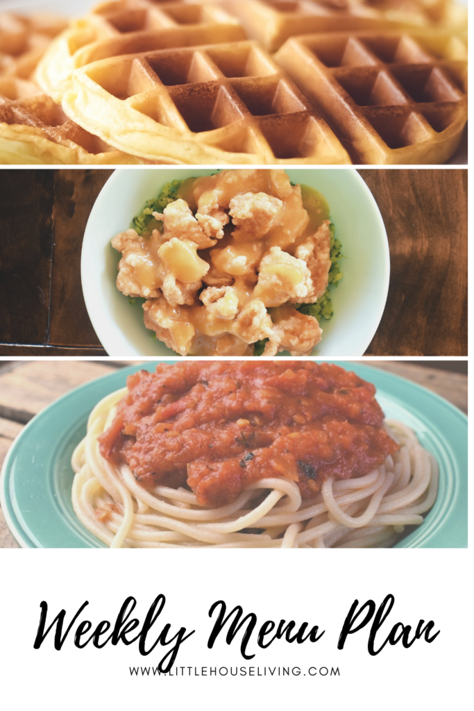 Need some meal planning inspiration? Here's what is on our menu for this week!