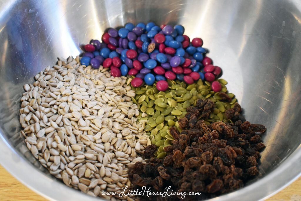 Mixing up trail mix